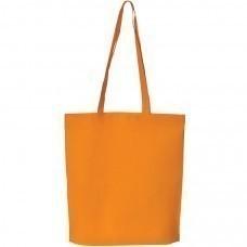"""Сумка для покупок """"PROMO""""; оранжевая; 38 x 41,5 x 8,5 см;  нетканый 80г/м2"""