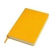 """Бизнес-блокнот """"Classic"""", 130*210 мм, желтый,  твердая обложка, блок-линейка, тиснение"""