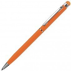 TOUCHWRITER, ручка шариковая со стилусом для сенсорных экранов, оранжевый/хром, металл
