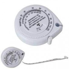 Рулетка (1,5 м) с индексом массы тела; белый; 6,2х5,9х1,6 см; пластик; тампопечать
