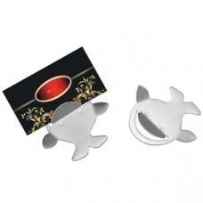 Набор держателей для бумаг с магнитом (2 шт); 5,5х6,5х0,5 см; металл; лазерная гравировка
