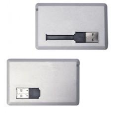 """USB flash-карта """"Кредитка"""" (4Gb); серебристый; 8,6х5,4х0,5 см; пластик; тампопечать"""