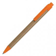 GREEN TOUCH, ручка шариковая, оранжевый, картон/пластик