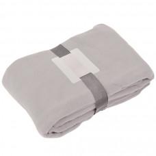 "Плед ""Уютный"" с карманами для ног;  серый, 130x150см, 260 гр. вышивка"