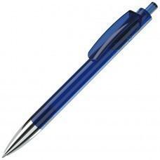 TRIS CHROME LX, ручка шариковая, прозрачный синий/хром, пластик