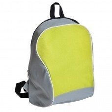 "Промо-рюкзак ""Fun""; серый с зеленым; 30х38х14 см; полиэстер; шелкография"