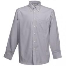 """Рубашка """"Long Sleeve Oxford Shirt"""", светло-серый_XL, 70% х/б, 30% п/э, 135 г/м2"""