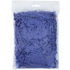 Стружка бумажная декоративная мягкая, 3 мм, 40 гр, синяя