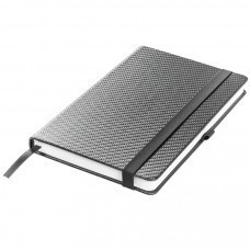 Ежедневник недатированный Barry, А5,  темно-серый металлик, кремовый блок, без обреза