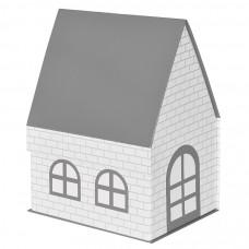 """Коробка подарочная """"ДОМ""""  складная,  серый,  15*21*27 см,  кашированный картон, тиснение"""