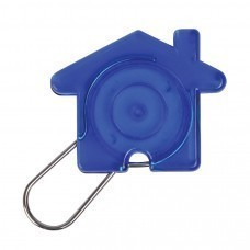 "Брелок ""Дом"", синий, 5,8х4,7х0,9см, пластик, металл"