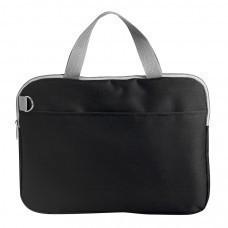 """Конференц-сумка """"Тодес-2"""" с отделением для ноутбука, черный, 40*30*2,5 см; полиэстер 600D; шелког"""