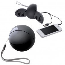 Портативные аудио колонки для смартфона,черные,D=7,8см,пластик