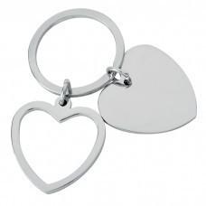 "Брелок ""Heart""; 3,5x3,5x0,2 см; металл; лазерная гравировка"