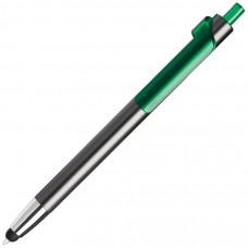 PIANO TOUCH, ручка шариковая со стилусом для сенсорных экранов, графит/зеленый, металл/пластик