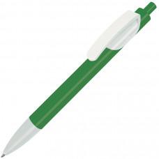 TRIS, ручка шариковая, зеленый/белый, пластик