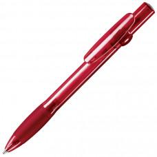 ALLEGRA LX, ручка шариковая с грипом, прозрачный красный, пластик