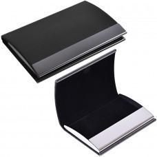 """Визитница """"Конгресс""""; черный; 6,5х9,6х1,2 см; иск. кожа, металл; лазерная гравировка"""