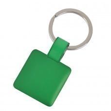"""Брелок """"Квадрат"""",зеленый,3,2х3,2х0,1см,металл"""