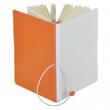 """Бизнес-блокнот А5  """"Franky"""" , оранжевый/белый,  130*210 мм,  в линейку"""