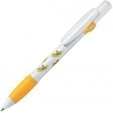 ALLEGRA, ручка шариковая, желтый/белый, пластик