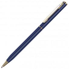 SLIM, ручка шариковая, синий матовый/золотистый, металл