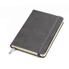 """Бизнес-блокнот """"Casual"""", 130*210 мм, серый, твердая обложка,  резинка 7 мм, блок-линейка, тиснение"""