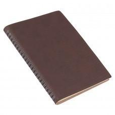 Ежедневник недатированный Foggy, А5,  темно-коричневый, кремовый блок, без обреза