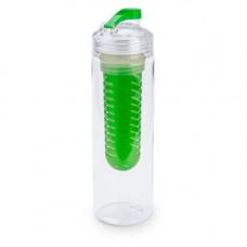 """Бутылка для воды """"Frutti"""", пластиковая, с контейнером для ягод и фруктов, 700 мл., зеленый"""