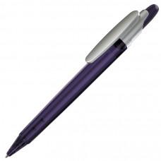 OTTO FROST SAT, ручка шариковая, фростированный фиолетовый/серебристый клип, пластик