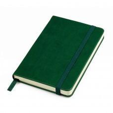 """Бизнес-блокнот """"Casual"""", 130*210 мм, зеленый, твердая обложка,  резинка 7 мм, блок-линейка, тиснение"""