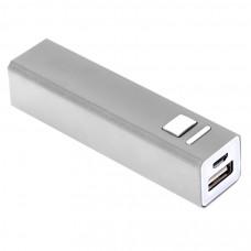 "Универсальное зарядное устройство ""Thazer"" (2200mAh), серебристый, 9,4х2,2х2,2 см,металл"