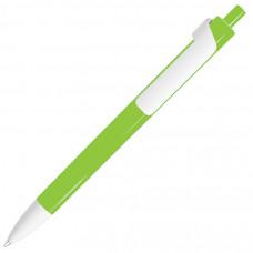 FORTE, ручка шариковая, зеленое яблоко/белый, пластик