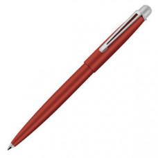 DELTA, ручка шариковая, красный/серебристый, металл