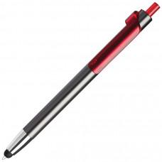 PIANO TOUCH, ручка шариковая со стилусом для сенсорных экранов, графит/красный, металл/пластик