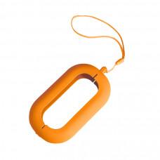 """Обложка с ланъярдом к зарядному устройству """"Seashell-2"""", оранжевый,силикон"""