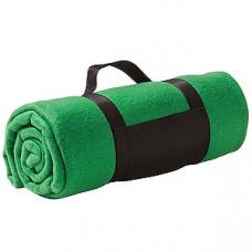 """Плед """"Color""""; зеленый; 130х150 см; флис 220 гр/м2; шелкография, вышивка"""