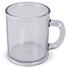 """Кружка """"Радуга""""; прозрачная, D=7,9см, H=9,6см, 300мл; пластик; тампопечать"""