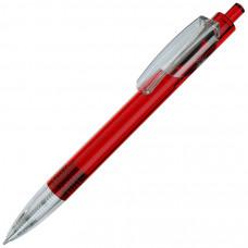 TRIS LX, ручка шариковая, прозрачный красный/прозрачный белый, пластик