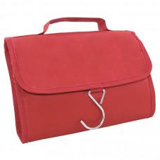"""Несессер дорожный """"Comfort""""; красный; 21,5х17,5х2 см; полиэстер; шелкография"""