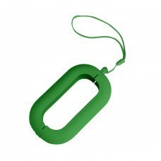 """Обложка с ланъярдом к зарядному устройству """"Seashell-2"""", зеленый,силикон"""