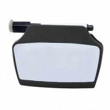 Клип на магните с доской и маркером; черный; 9х12,4х2,5 см; пластик; тампопечать
