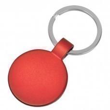 "Брелок ""Круг"",красный,3,7х3,7х0,1см,металл"