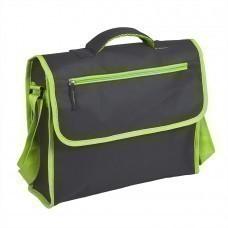 """Конференц-сумка """"ACTIVE"""" с карманом на молнии, зеленый, 37х28х10 см, полиестер,  шелкография"""