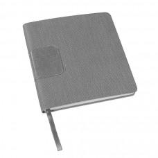 Ежедневник недатированный Scotty, А5-,  серый, кремовый блок, без обреза
