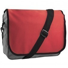 "Конференц-сумка ""College""; серый с красным; 38х30х9,5 см; полиэстер; шелкография"