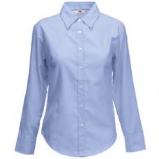"Рубашка ""Lady-Fit Long Sleeve Oxford Shirt"", светло-голубой_L, 70% х/б, 30% п/э, 135 г/м2"