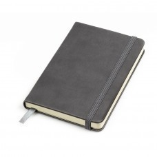"Бизнес-блокнот ""Casual"", 115 × 160 мм,  серый,  твердая обложка, резинка 7 мм, блок-клетка"