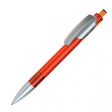 TRIS LX SAT, ручка шариковая, прозрачный оранжевый/серебристый, пластик