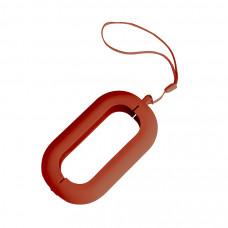 """Обложка с ланъярдом к зарядному устройству """"Seashell-2"""", красный,силикон"""